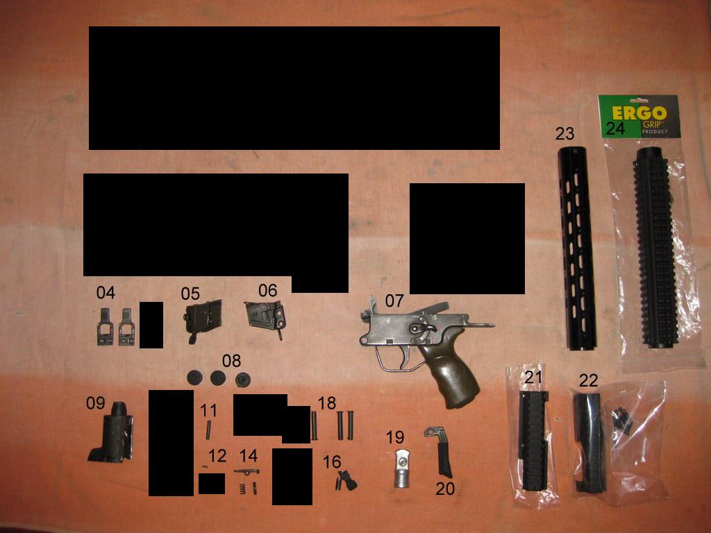 FS: HK G3/91 German Parts - Triggers, Rails, Handguards, Misc